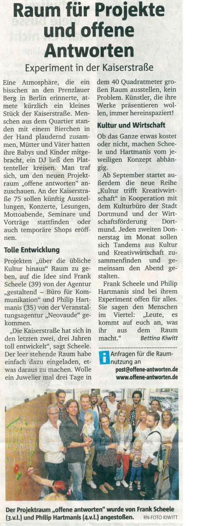 Ruhr Nachrichten, 17. Juni 2014